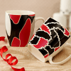 Multicolored Set of 2 Mugs in a Fancy Box
