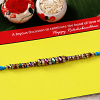 Multicolored Sparkling Crystal Beaded Rakhi