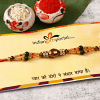 Multicolored Stone Rakhi Thread