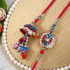 Multicolored Stone Studded Bhaiya Bhabhi Rakhi