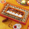 Nagpuri Sweets with Silver Container