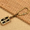 Nautical Brass Pulley Key Chain