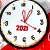 Gift New Year Clock Butterscotch Cake (Eggless) (Half Kg)