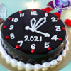 New Year Watch Chocolate Truffle Cake (Eggless) (2 Kg)