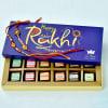 Om Beads Decor Rakhi Set of 2 with 12 Pc Assorted Chocolate Box