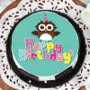 Buy Owl Happy Birthday Cake (1 Kg)