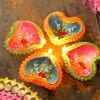 Painted Colourful Clay Diyas