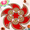 Paisley Shaped Rangoli