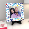 Papa is My Everything Personalized Square Shaped Clock