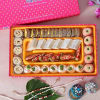 Pearl Rakhi Set of 3 with Kaju Mithai and Beaded Box Set