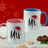 Personalized Christmas Pink & Blue Handle Mug Combo