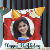 Personalized Happy Birthday Photo Cushion Online