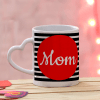 Personalized Heart Handle Mug for Mom