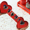 Gift Personalized Heart Shaped Photo Popup with Chocolates Hamper