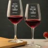 Personalized New Year themed Wine Glass Set
