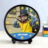 Personalized Round Clock for Boys