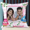 Personalized Satin Cushion with Cute Print