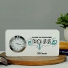 Personalized Table Clock for Boss