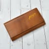 Personalized Tan Coloured Pure Leather Clutch