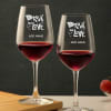 Personalized Wine Glasses with Drunk in Love Message