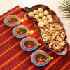 Platter with Chocolates, Dryfruits & Clay Diyas