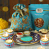 Puja Thali with Diya Set & Dry Fruit Potli