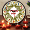 Pyari Maa Round Clock with Rose Designed Candles
