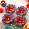 Red and Blue Clay Diyas