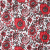 Gift Red Flower Rajasthani Print Double Bed Quilt