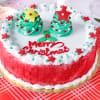 Red Velvet Christmas Cake (Eggless) (2 Kg)
