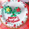 Gift Red Velvet Christmas Cake (Half Kg)