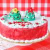 Buy Red Velvet Christmas Cake (Half Kg)