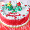 Red Velvet Christmas Cake (Eggless) (Half Kg)