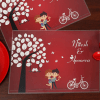 Romantic Couple Personalized Table Mat Set of 2