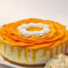 Round Mango Cheese Cake (1 Kg) with Cream Cheese Base