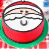 Santa Christmas Fondant Cake (Eggless) (1 Kg)