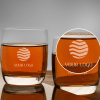 Set of 2 Personalized Ocean Whiskey Glasses
