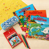 Set of 3 Coloring Book with Color Pencils and Box