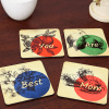 Set of 4 Best Mom Coasters