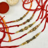 Set of 5 Beautiful Metal Rakhis