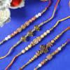 Gift Set of 5 Designer Beads Rakhi