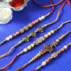 Set of 5 Designer Beads Rakhi