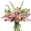 Shades Of Pink - Glass Vase Arrangement
