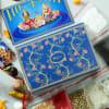 Buy Silver Plated Laxmi Ganesha Idols with Big Clay Diya Hamper