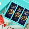 Silver Plated Tikka with Cadbury Chocolates in Gift Box