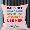 Sister Love Personalized Cushion