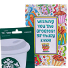 Starbucks $25 Gift Card with Birthday Greeting Card