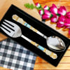 Gift Stone Studded Salad Spoons in Personalized Box (Set of 2)