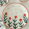 Stoneware Floral Dinner Plate