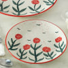 Buy Stoneware Floral Quarter Plate
